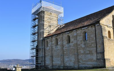 Restauration à l'église Romane