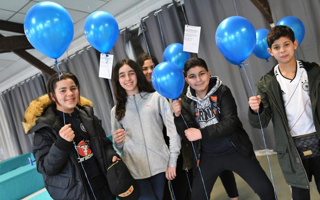 Tous en bleu pour la journée de l'autisme au centre Jean Pierre Bienaimé