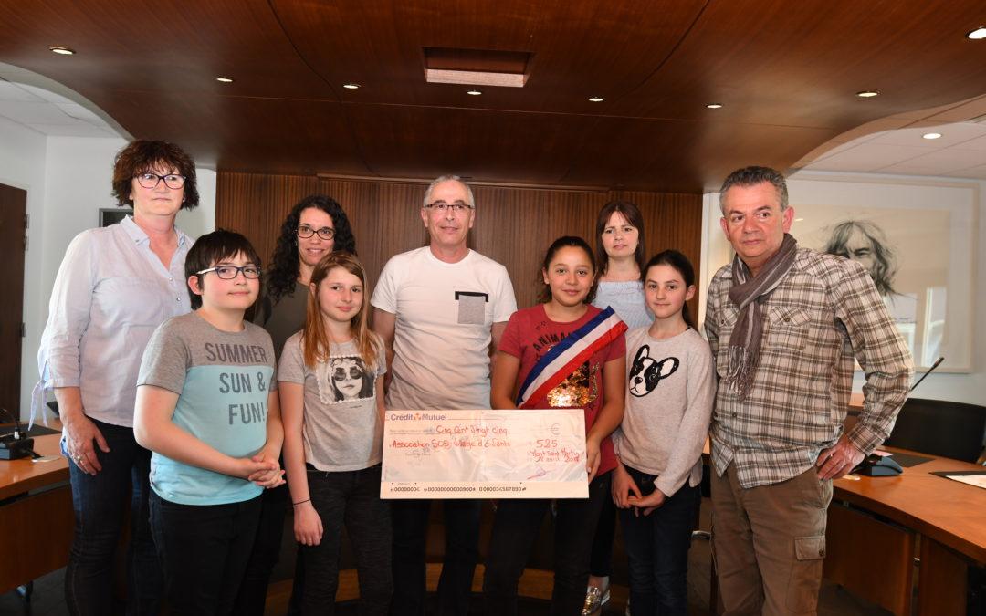 CME : remise de chèque à SOS Village