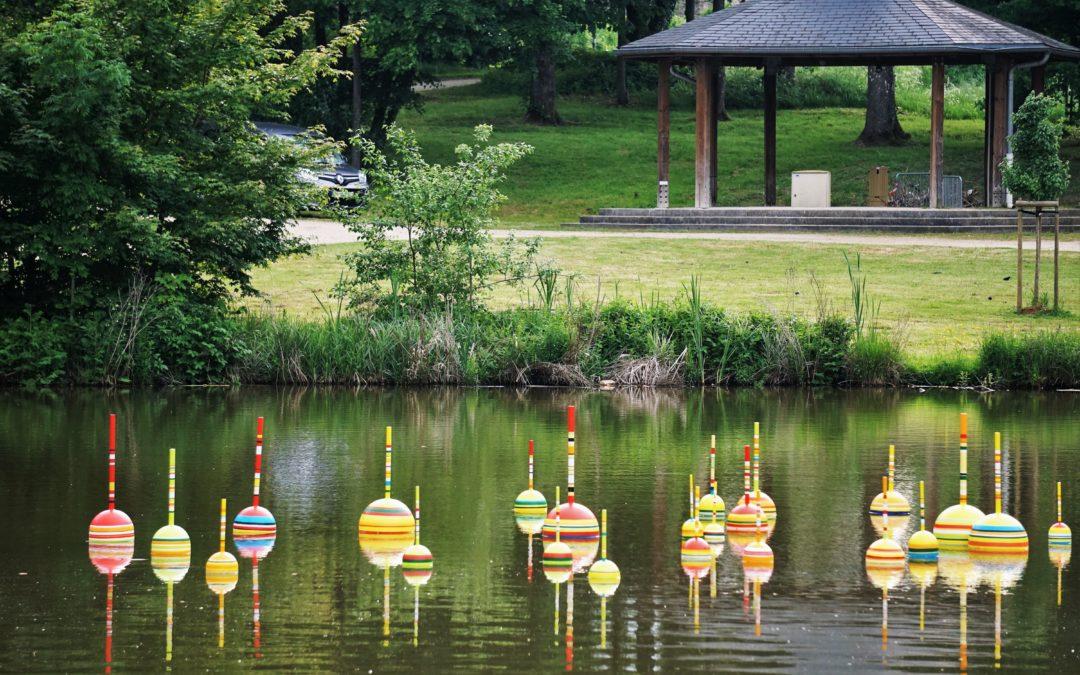 « Le songe du pêcheur » sur l'étang du parc municipal Brigidi