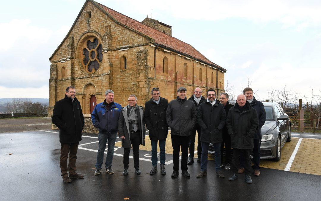 Réceptions de travaux place du Prieuré et à l'Église Romane