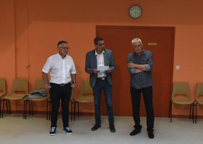 Lionel Boudart remerciant Jean-Luc Sacher
