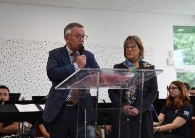 M.le Maire de Mont-Saint-Martin et Mme le Maire de Thil