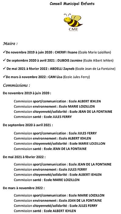 calendrier des maires et commissions