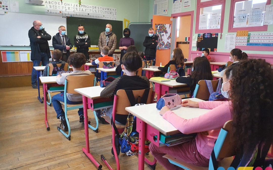 Steven Da Costa à l'école Marie Loizillon
